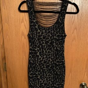 Forever 21 cheetah party dress with open back